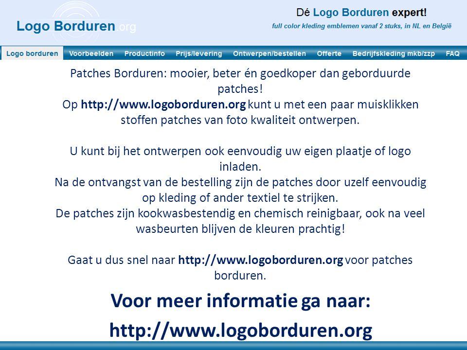 Patches Borduren: mooier, beter én goedkoper dan geborduurde patches.