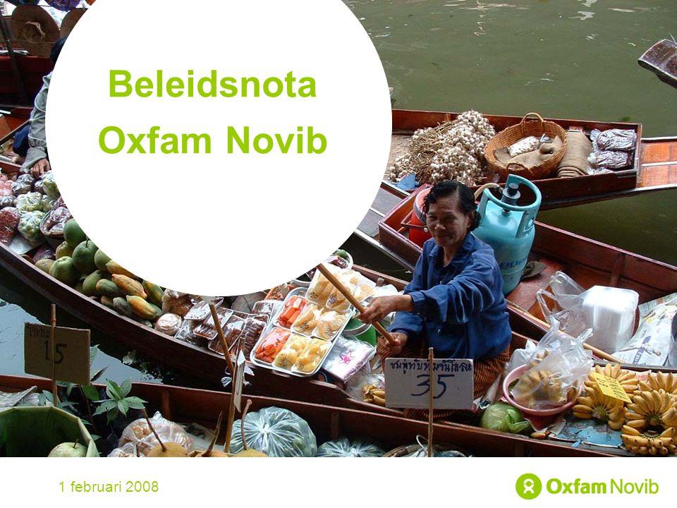 Title Sub-title Beleidsnota Oxfam Novib 1 februari 2008