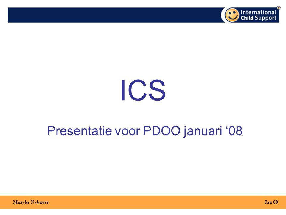 Presentatie voor PDOO januari '08 Jan 08Maayke Nabuurs ICS