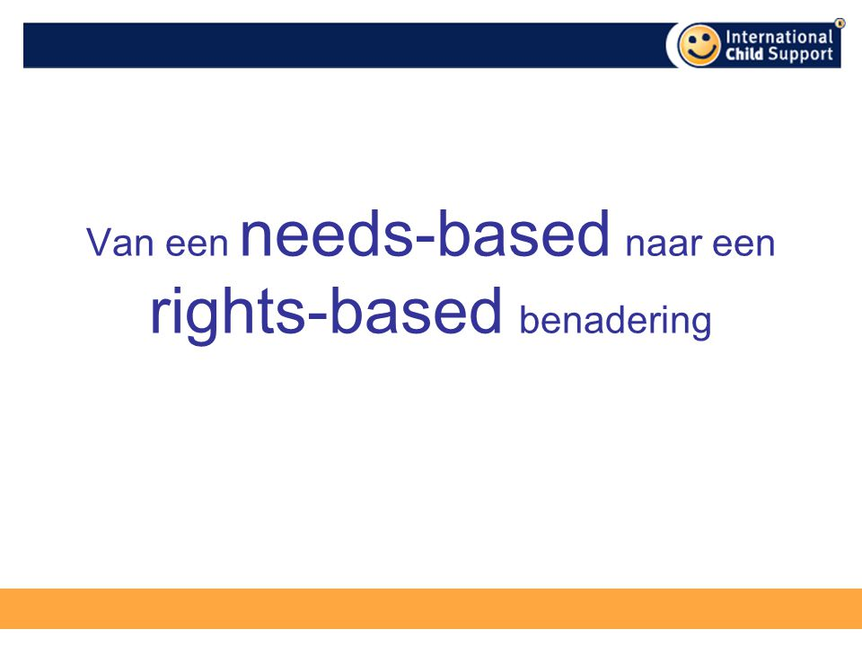 Van een needs-based naar een rights-based benadering
