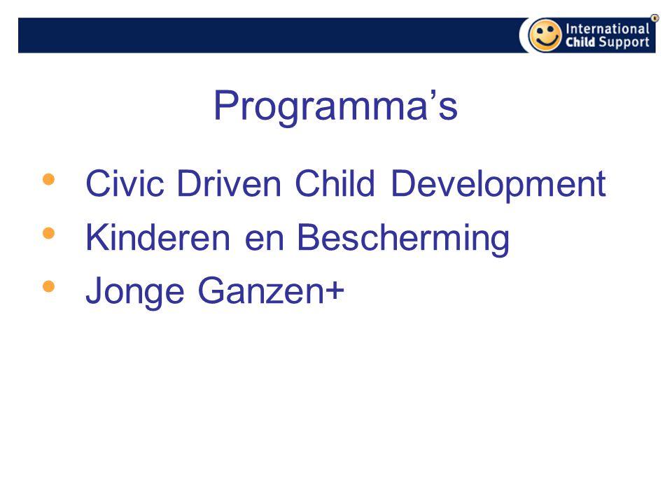 Programma's Civic Driven Child Development Kinderen en Bescherming Jonge Ganzen+