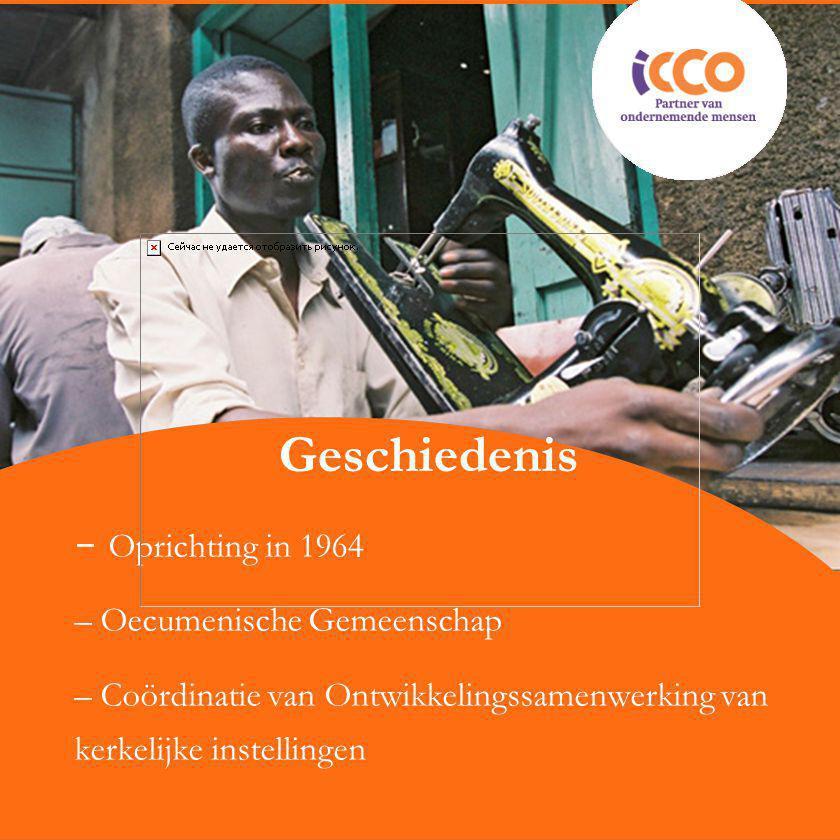 Geschiedenis – Oprichting in 1964 – Oecumenische Gemeenschap – Coördinatie van Ontwikkelingssamenwerking van kerkelijke instellingen