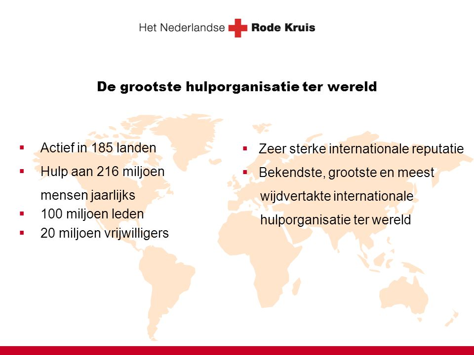 Together we can Strategie voor het internationale werk van het Nederlandse Rode Kruis 2007-2010