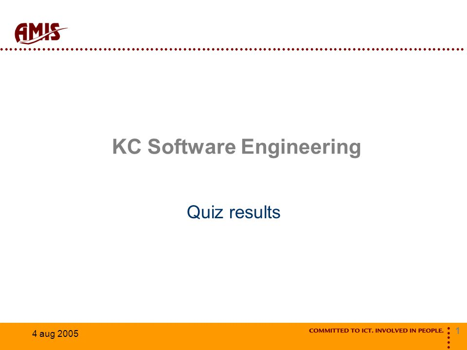 1 4 aug 2005 KC Software Engineering Quiz results