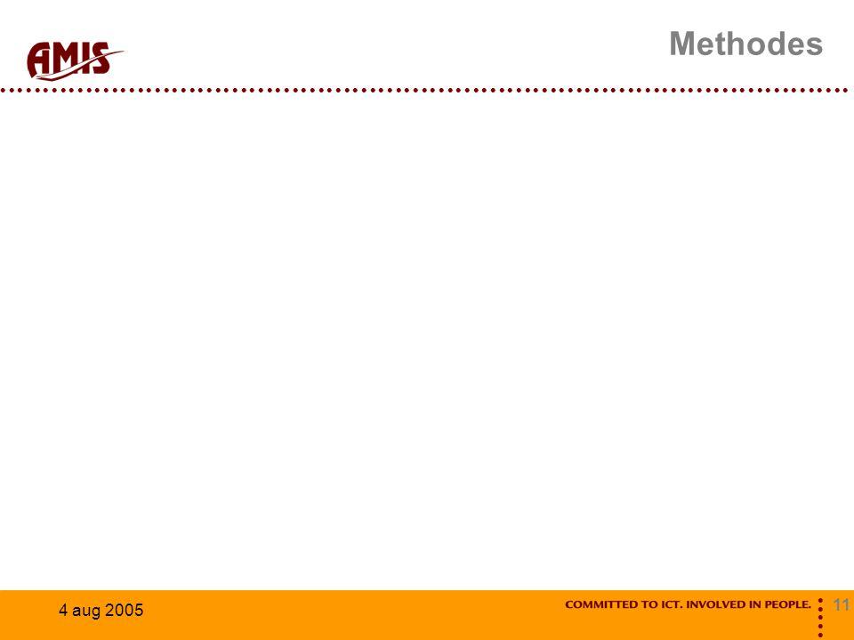 11 4 aug 2005 Methodes