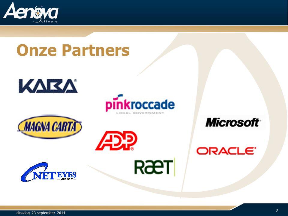 Onze Partners dinsdag 23 september 2014 7