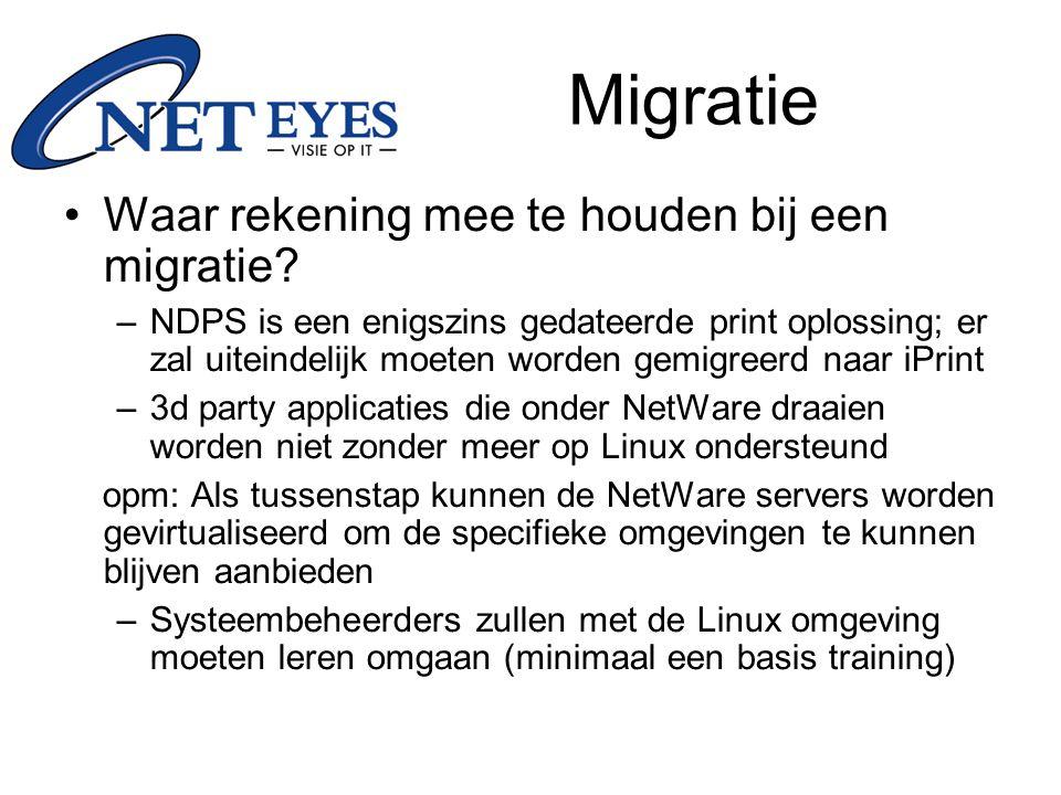 Migratie Waar rekening mee te houden bij een migratie.