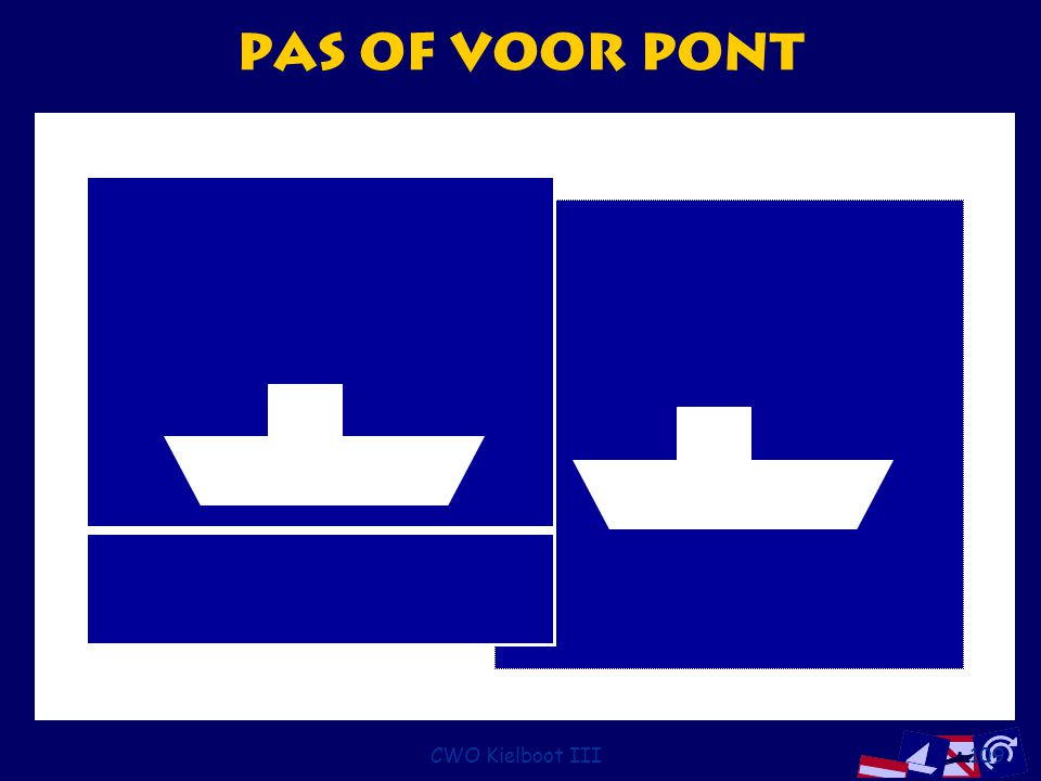 CWO Kielboot III109 Pas of voor pont