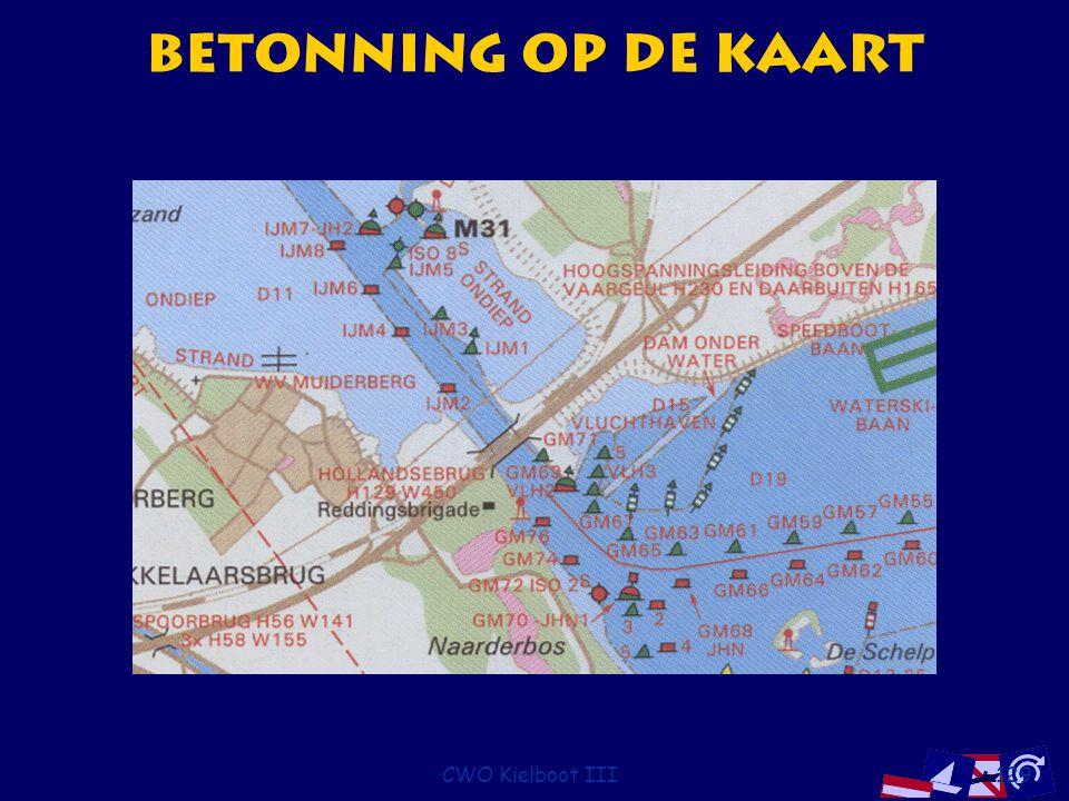 CWO Kielboot III129 Betonning op de kaart