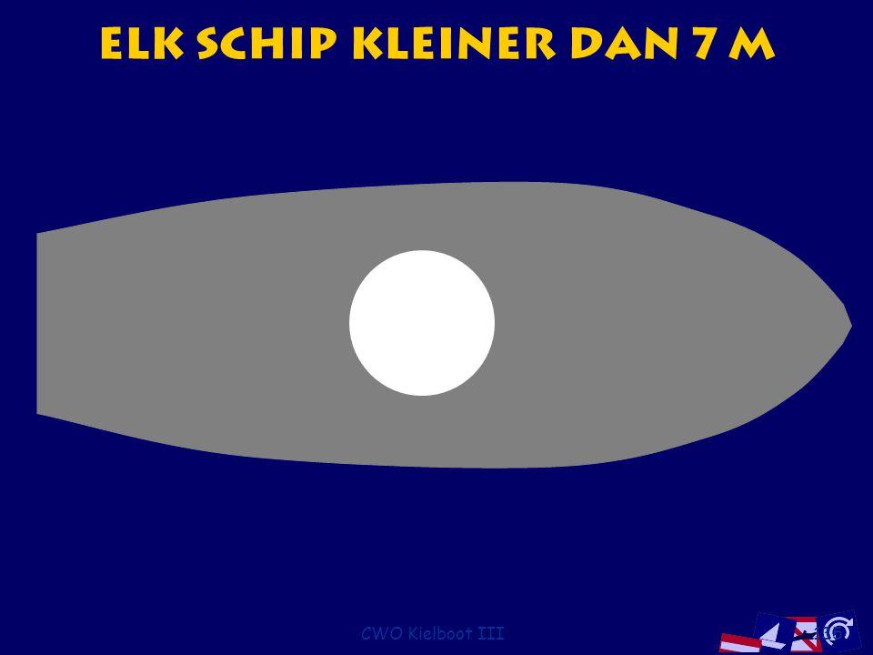CWO Kielboot III135 Elk schip kleiner dan 7 m