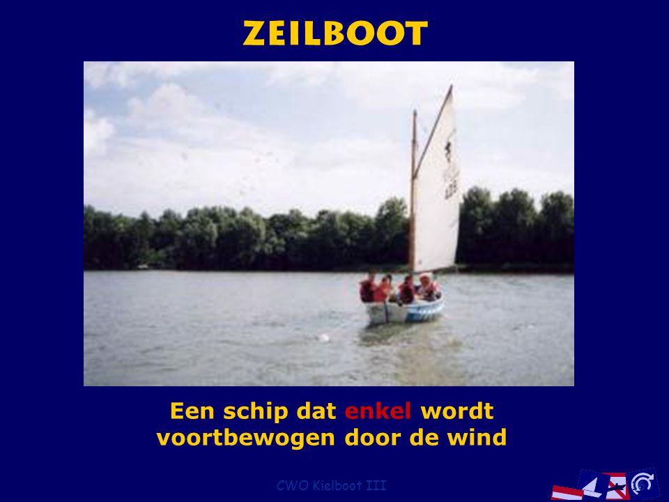 CWO Kielboot III16 Zeilboot Een schip dat enkel wordt voortbewogen door de wind