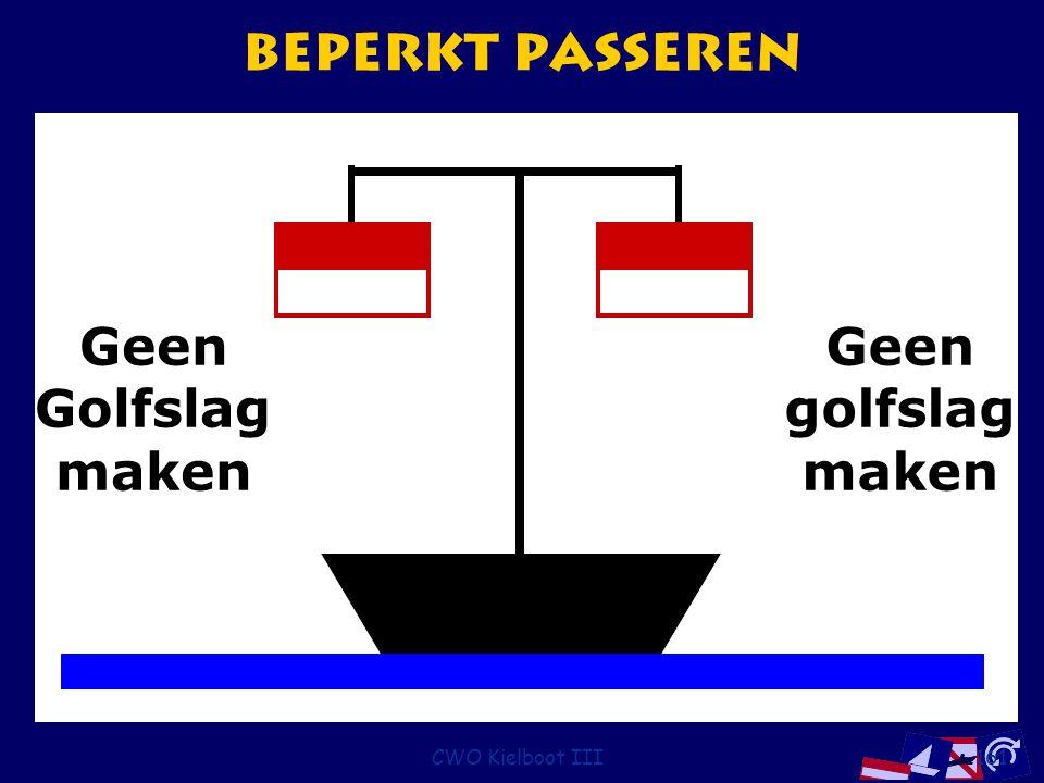 CWO Kielboot III161 Beperkt passeren Geen golfslag maken Geen Golfslag maken