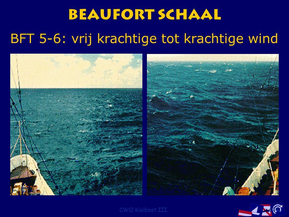 CWO Kielboot III174 Beaufort Schaal BFT 5-6: vrij krachtige tot krachtige wind