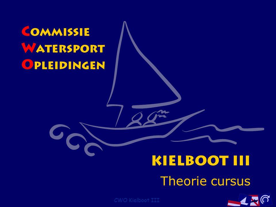 CWO Kielboot III154 Lichten op bakboord Groot zeilschip Klein zeilschip groter dan 7 m