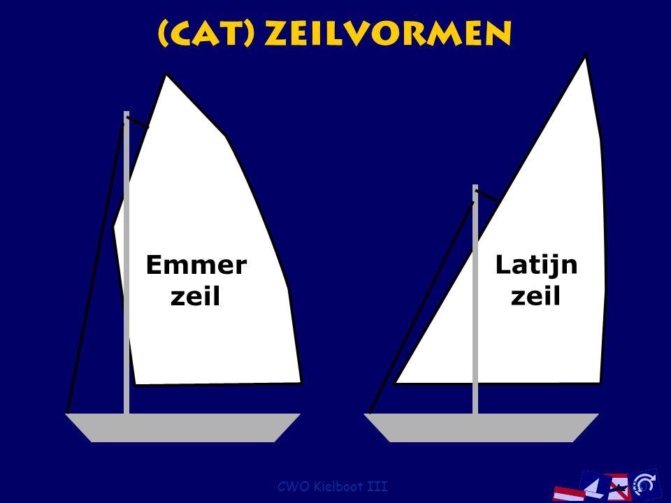 CWO Kielboot III80 (Cat) Zeilvormen Emmer zeil Latijn zeil