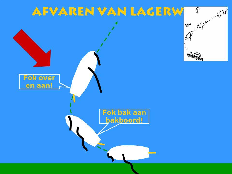 CWO Kielboot III95 Afvaren van lagerwal Fok over en aan! Fok bak aan bakboord!