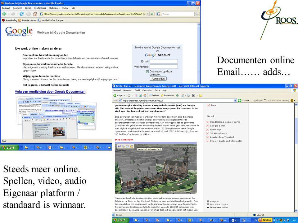 Steeds meer online. Spellen, video, audio Eigenaar platform / standaard is winnaar. Documenten online Email…… adds…