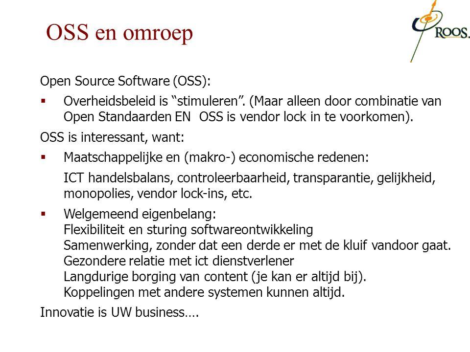 """Open Source Software (OSS):  Overheidsbeleid is """"stimuleren"""". (Maar alleen door combinatie van Open Standaarden EN OSS is vendor lock in te voorkomen"""