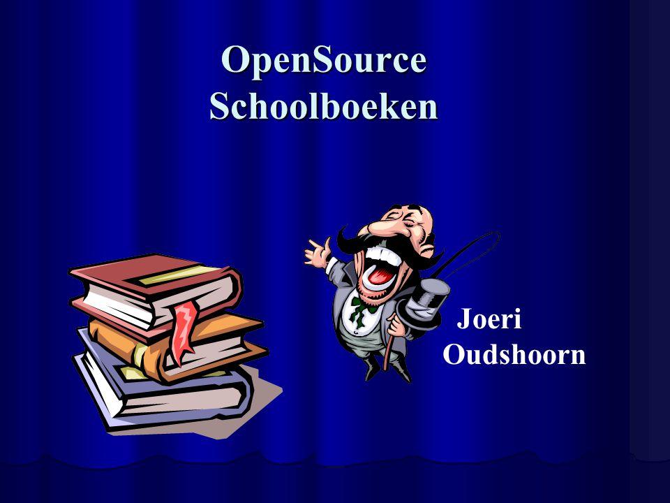 OpenSource Schoolboeken Joeri Oudshoorn
