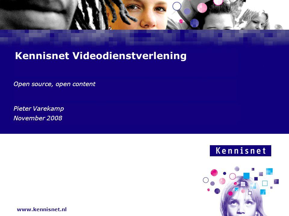 Kennisnet: ICT in het onderwijs  Online beschikbaarheid van kennis  Voordelen: actueler, directer, beeldend(er)  Nadelen: niet altijd geverifieerd (mediawijsheid)  Stimuleren gebruik in les: diensten, platformen  Open source, open content Video in het onderwijs - P.