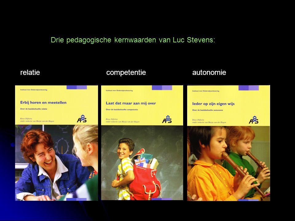 relatiecompetentieautonomie Drie pedagogische kernwaarden van Luc Stevens: