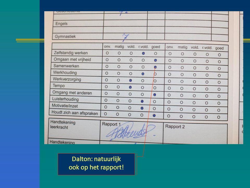 Dalton: natuurlijk ook op het rapport!