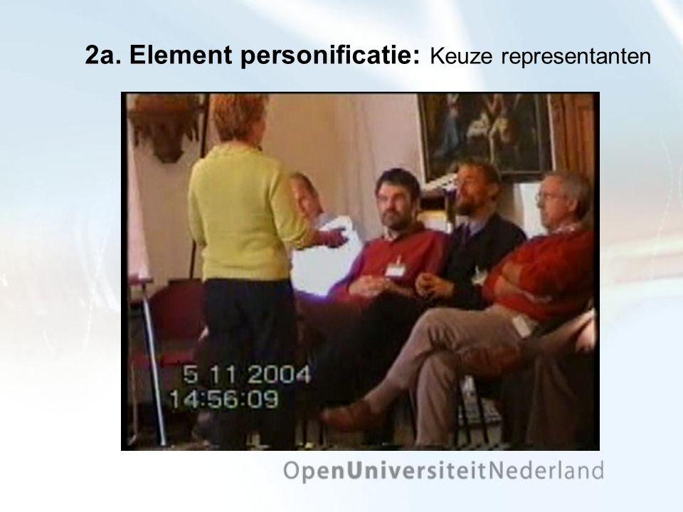 2a. Element personificatie: Keuze representanten