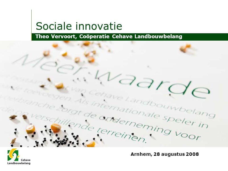 Sociale innovatie Theo Vervoort, Coöperatie Cehave Landbouwbelang Arnhem, 28 augustus 2008