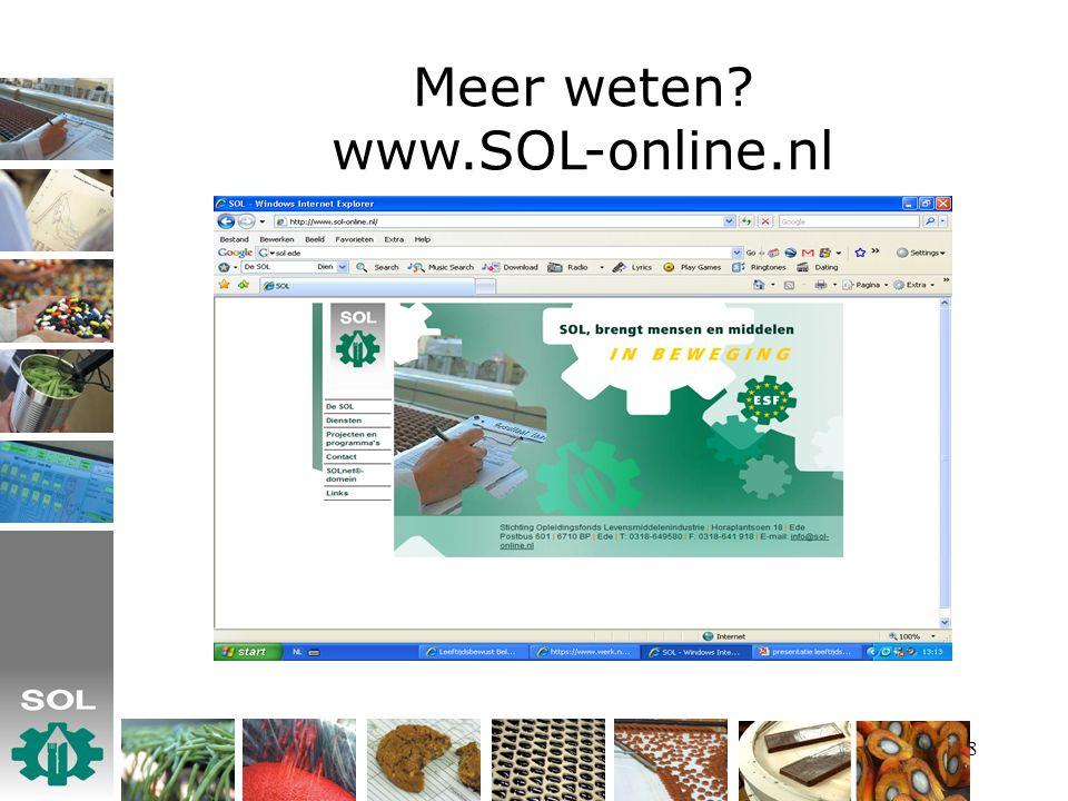 8 Meer weten www.SOL-online.nl