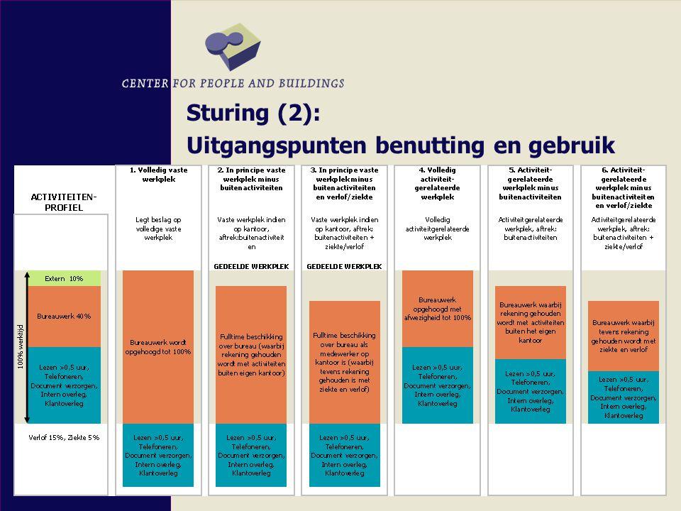 Sturing (2): Uitgangspunten benutting en gebruik Sturing