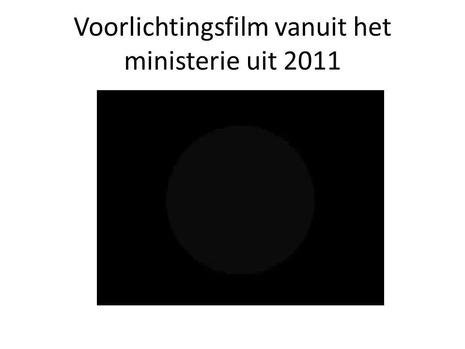 Voorlichtingsfilm vanuit het ministerie uit 2011