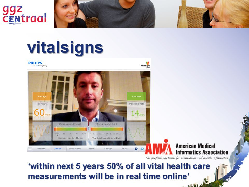vitalsigns 'within next 5 years 50% of all vital health care measurements will be in real time online'