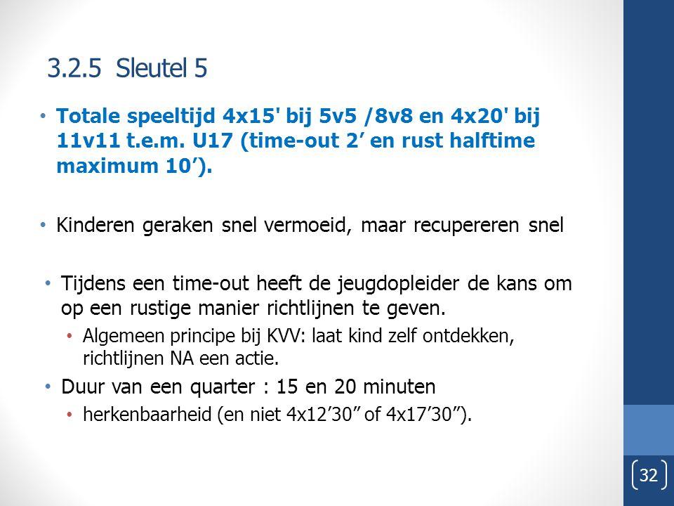 3.2.5 Sleutel 5 Tijdens een time-out heeft de jeugdopleider de kans om op een rustige manier richtlijnen te geven.