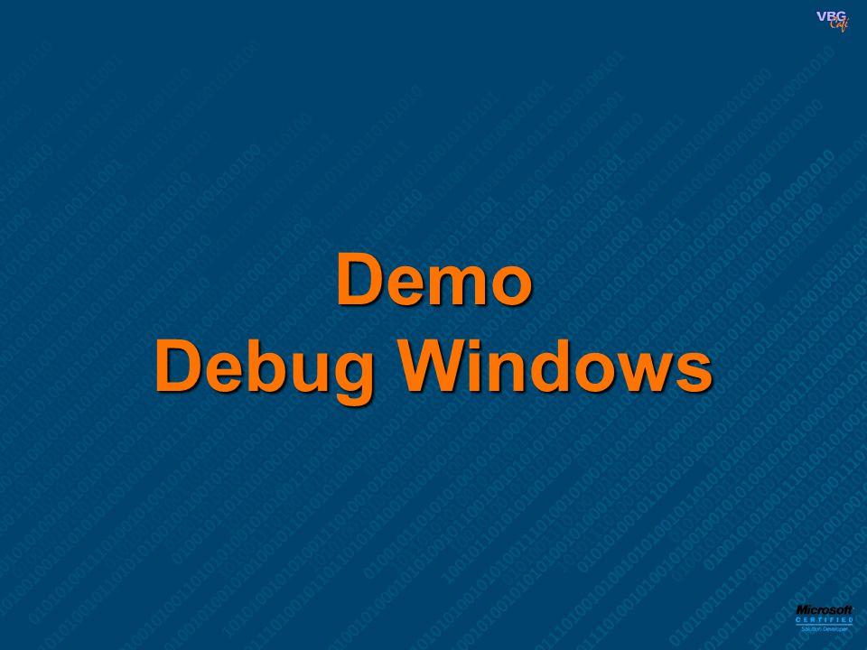 Demo Debug Windows