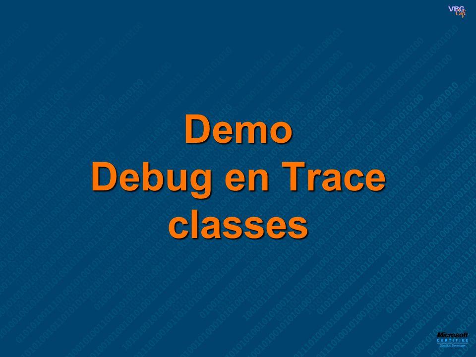 Demo Debug en Trace classes