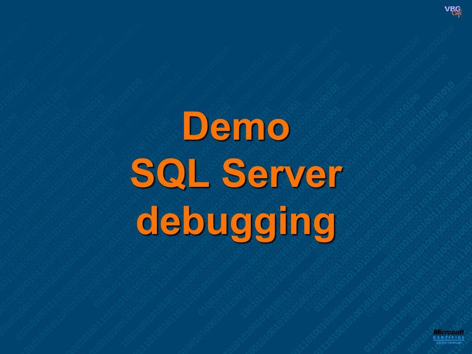 Demo SQL Server debugging
