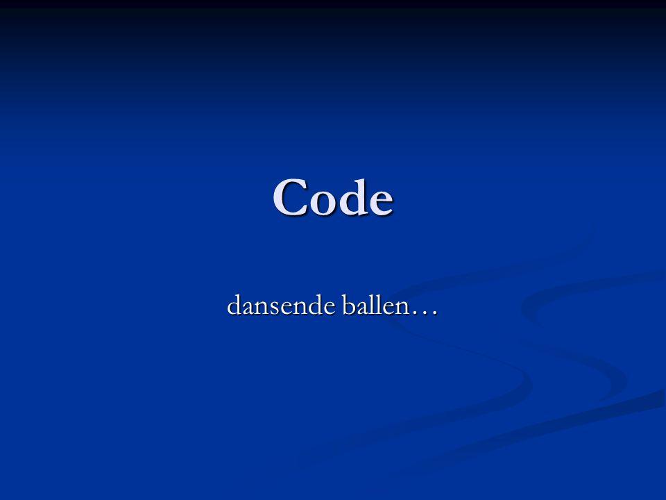 Code dansende ballen…