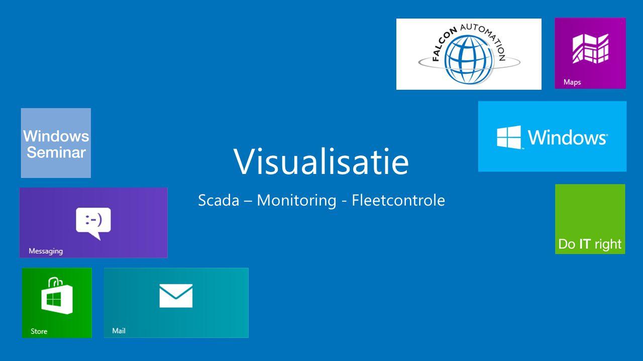 Visualisatie Scada (Vision) Fleetcontrole Productiemonitoring (Promon)