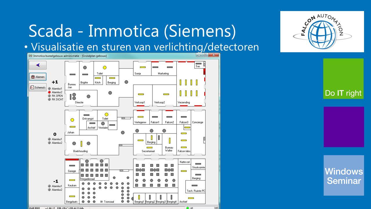 Scada - Immotica (Siemens) Visualisatie en sturen van verlichting/detectoren