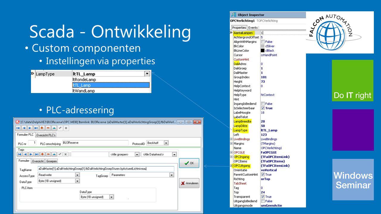 Scada - Ontwikkeling Custom componenten Instellingen via properties PLC-adressering