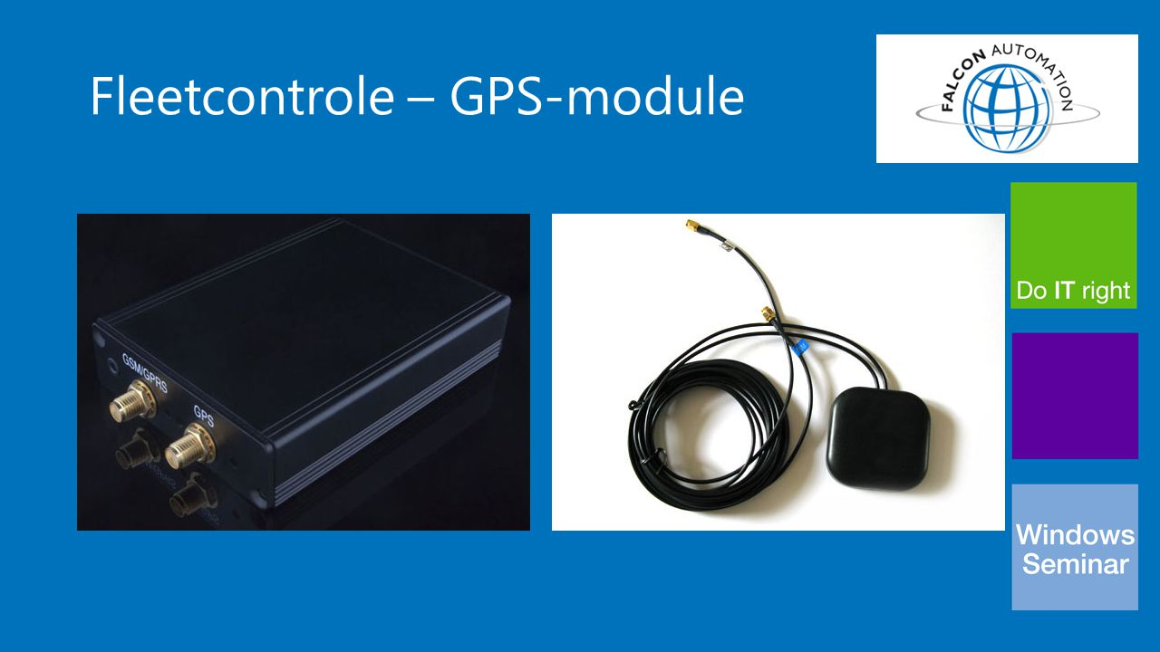 Fleetcontrole – GPS-module
