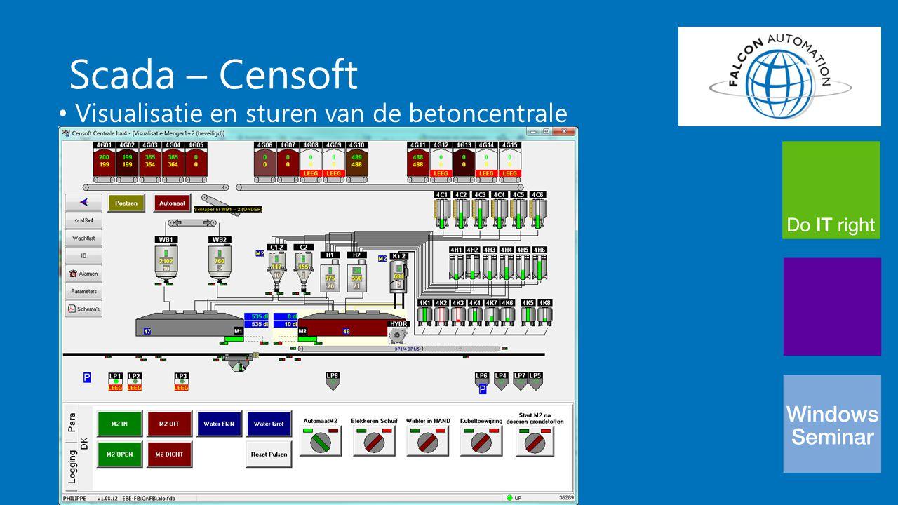 Scada - Ontwikkeling Met Embaracadero Delphi XE2 Ontwikkeling gebeurt grafisch Kostenefficiënte oplossing ( standaardproducten) Multi-user zonder extra licenties Weinig Delphi-kennis vereist door custom componenten