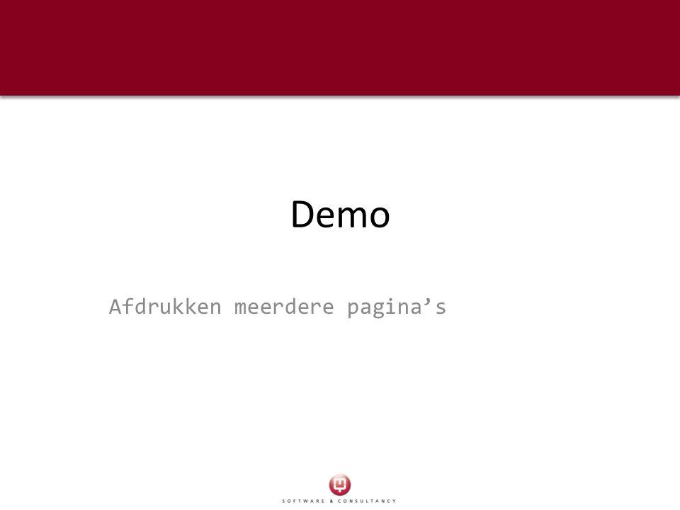 Demo Afdrukken meerdere pagina's