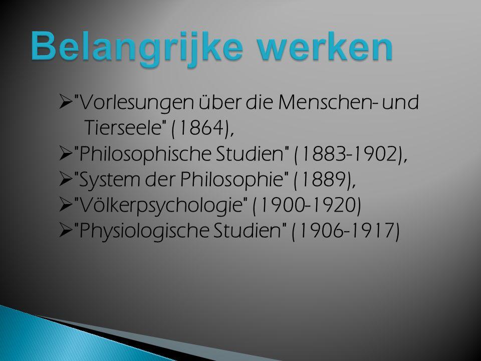 Wilhelm Wundt verdedigde in de psychologie een psychofysisch parallellisme en de theorie van de scheppende synthese als tegenhanger van de associatiepsychologie.