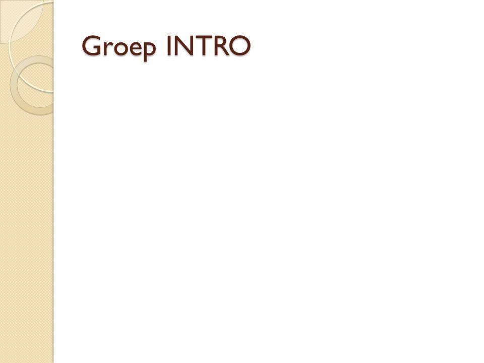 Groep INTRO