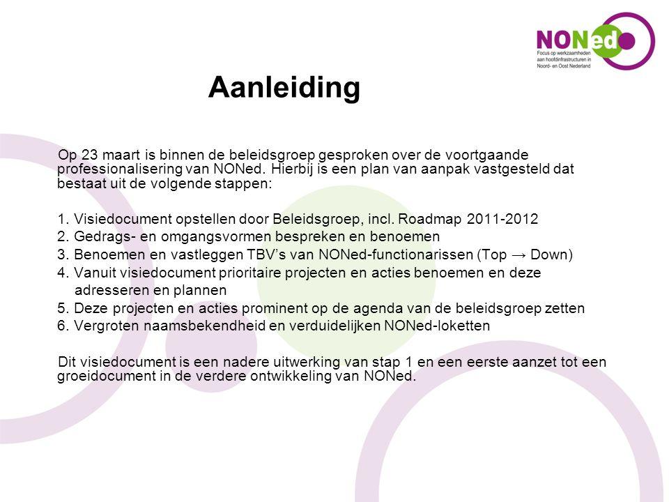 Aanleiding Op 23 maart is binnen de beleidsgroep gesproken over de voortgaande professionalisering van NONed. Hierbij is een plan van aanpak vastgeste