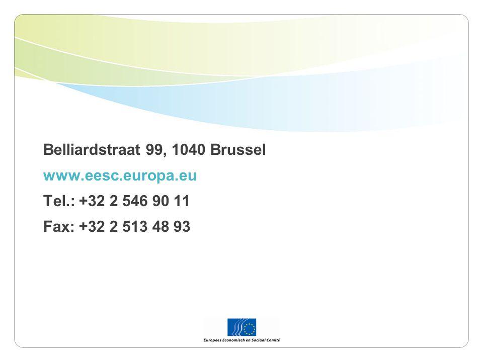 Belliardstraat 99, 1040 Brussel www.eesc.europa.eu Tel.: +32 2 546 90 11 Fax: +32 2 513 48 93