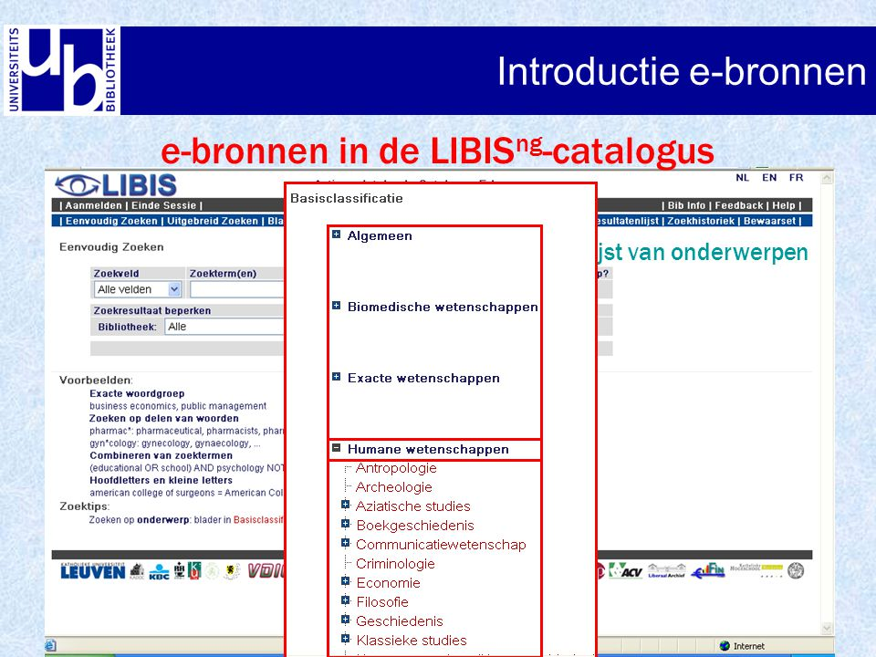 Introductie e-bronnen Web of Science – Advanced search