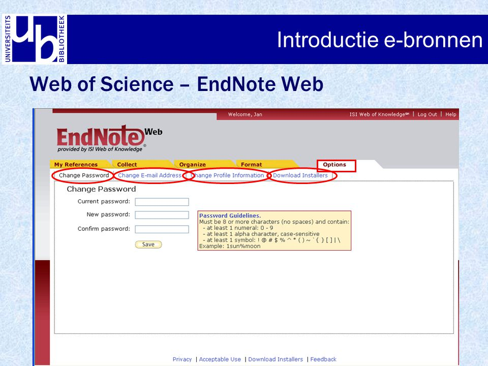 Introductie e-bronnen Web of Science – EndNote Web
