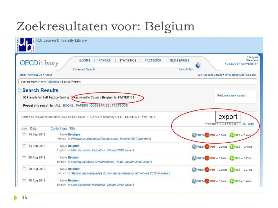 Zoekresultaten voor: Belgium 35 export